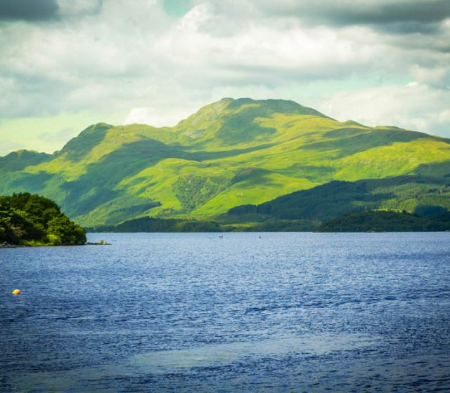 Beautiful landscape at Loch Lomond lake in Luss Argyll&Bute in Scotland UK